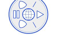 """Webrecorder's logo containing a graphic and url displayed as """"WEBRECORDERr.io"""""""