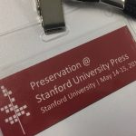 photo of nametag showing conference name, place, and dates